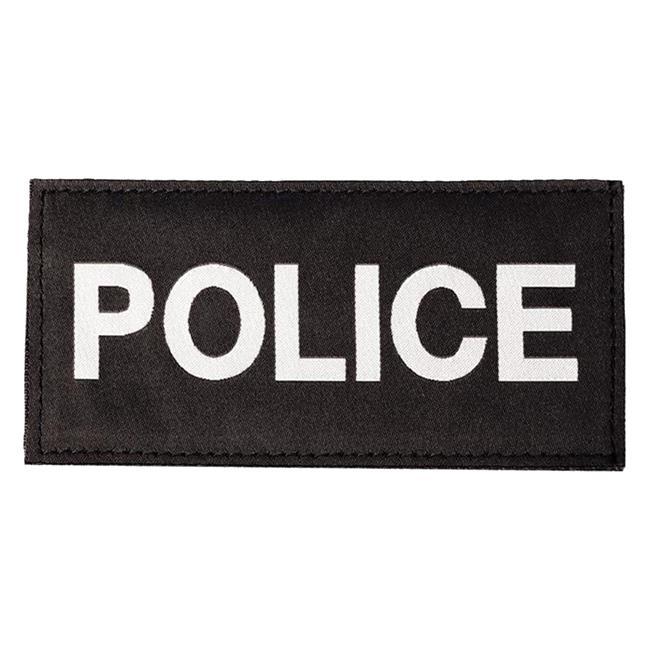 Blackhawk Police Patch White on Black