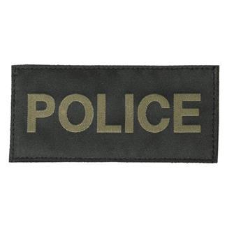 Blackhawk Police Patch Green on Black