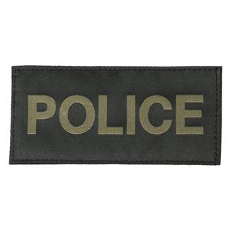 Blackhawk Police Patch Green on Black