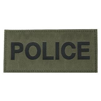 Blackhawk Police Patch Black on Green