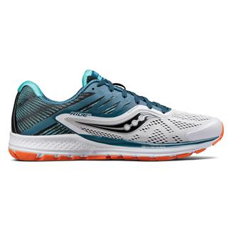 Saucony Ride 10 White / Teal / Orange