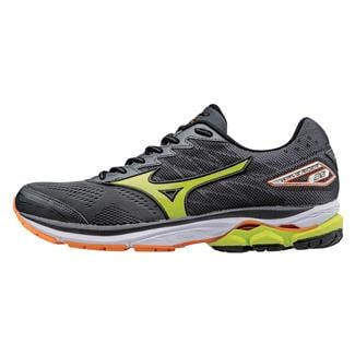 Mizuno Wave Rider 20 Dark Shadow / Lime Punch / Vibrant Orange