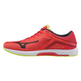 Mizuno Wave Sonic Grenadine / Black / Safety Yellow