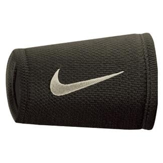 NIKE Dri-FIT Stealth Doublewide Wristband Black / Anthracite / White