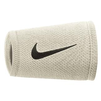NIKE Dri-FIT Stealth Doublewide Wristband White / Wolf Gray / Black