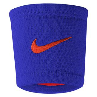 NIKE Dri-FIT Stealth Wristband Paramount Blue / Max Orange / Max Orange
