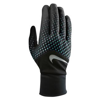 NIKE Dri-FIT Tempo Run Gloves Blue / Black / Silver