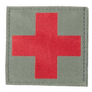 Blackhawk Red Cross Patch Foliage Green