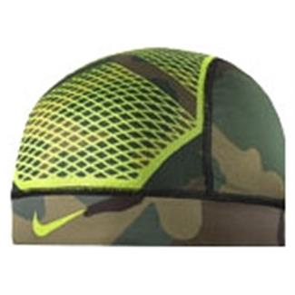 NIKE Pro Hypercool Vapor Skull Cap 4.0 Iguana / Black Forest / Turkish Coffee / Black / Volt