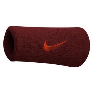 NIKE Swoosh Doublewide Wristband (2 pack) Team Red / Max Orange