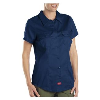 Dickies Short Sleeve Work Shirt Dark Navy