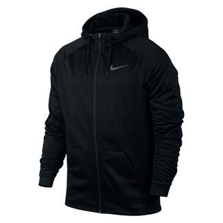 NIKE Therma Training Full Zip Hoodie Black / Dark Gray