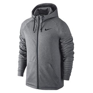 NIKE Therma Training Full Zip Hoodie Carbon Heather / Black