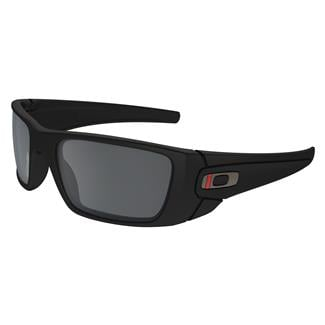 Oakley SI Fuel Cell Thin Red Line Satin Black (frame) / Black Iridium (lens)