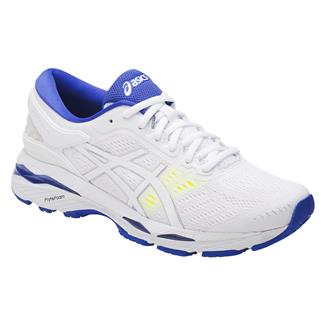 ASICS GEL-Kayano 24 White / Blue Purple / Safety Yellow