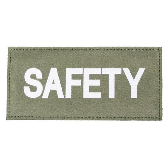Blackhawk Safety Patch White on Green