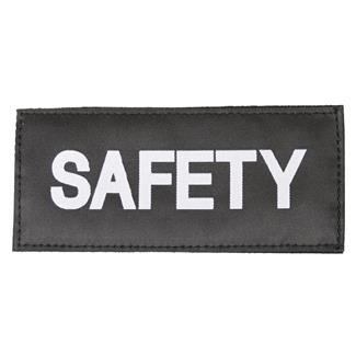 Blackhawk Safety Patch White on Black