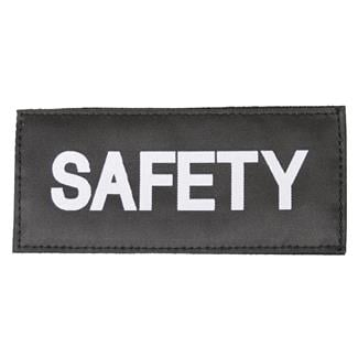 Blackhawk Safety Patch White on Black