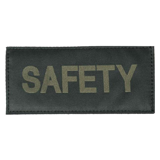 Blackhawk Safety Patch Green on Black