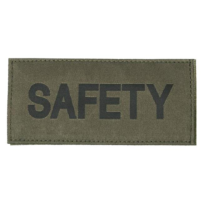 Blackhawk Safety Patch Black on Green