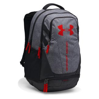 Under Armour Hustle 3.0 Backpack Graphite / Black / Red