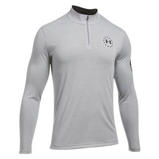 Under Armour Freedom Threadborne 1/4 Zip Shirt True Gray Heather / Black