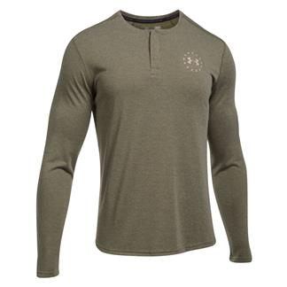 Under Armour Freedom Threadborne Henley Marine OD Green / Desert Sand