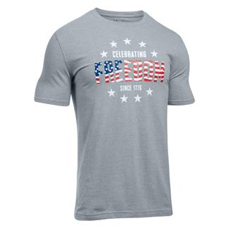 Under Armour Freedom Independence T-Shirt Steel Light Heather / White