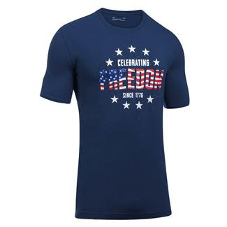 Under Armour Freedom Independence T-Shirt Blackout Navy / White
