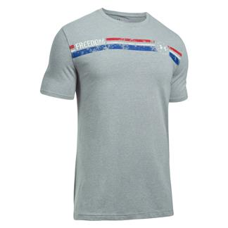 Under Armour Freedom American T-Shirt Steel Light Heather / White