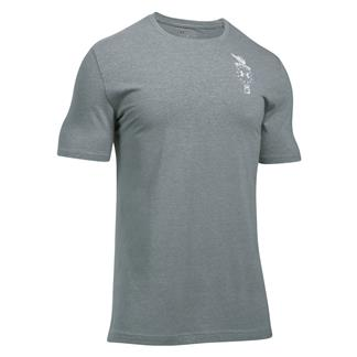 Under Armour Freedom Home Of T-Shirt Steel Light Heather / White