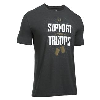 Under Armour Freedom Support The Troops T-Shirt Charcoal Medium Heather / White