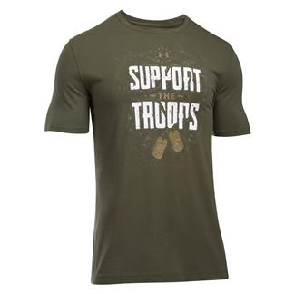 Under Armour Freedom Support The Troops T-Shirt Marine OD Green / White