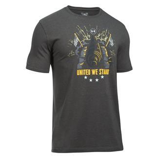 Under Armour Freedom Inspirational T-Shirt Charcoal Medium Heather / White