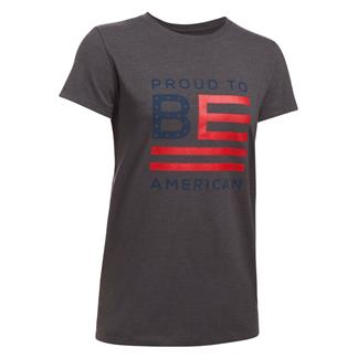 Under Armour Freedom Proud To Be T-Shirt Charcoal Medium Heather / Red