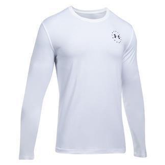 Under Armour Freedom Flag Long Sleeve T-Shirt White / Black