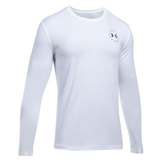 Under Armour Freedom Flag Long Sleeve T-Shirt White / Black