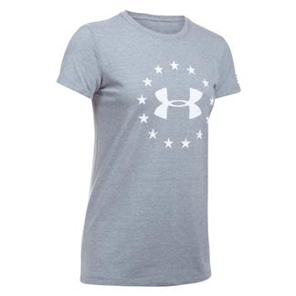 Under Armour Freedom Logo 2.0 T-Shirt Steel Light Heather / White