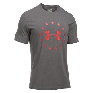 Under Armour Freedom Logo 2.0 T-Shirt Charcoal Medium Heather / Red