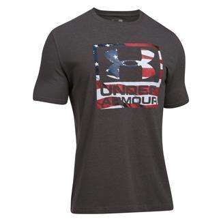 Under Armour Freedom BFL T-Shirt Charcoal Medium Heather / White