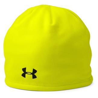 Under Armour Camo Outdoor Fleece Beanie High / Vis Yellow / Black