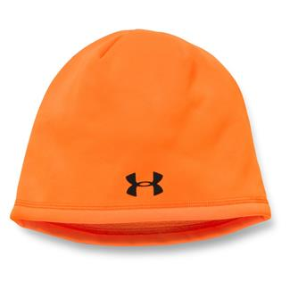 Under Armour Camo Outdoor Fleece Beanie Blaze Orange / Black