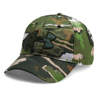 Under Armour Camo Big Flag Logo Cap Ridge Reaper Forest / Artillery Green