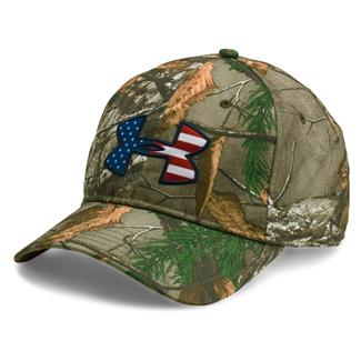 Under Armour Camo Big Flag Logo Cap Realtree AP / Realtree XTRA / Red / White