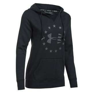 Under Armour Freedom Logo Favorite Fleece Hoodie Black / Graphite
