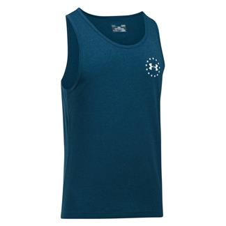 Under Armour Freedom Flag Tank Blackout Navy / Medium Heather / White