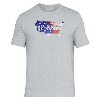 Under Armour Freedom One Nation Fill T-Shirt Steel Light Heather / White