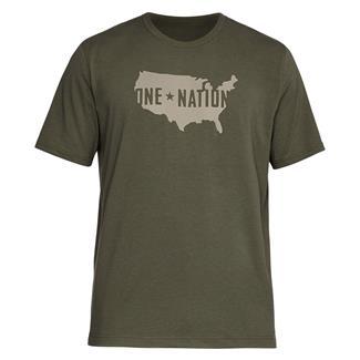 Under Armour Freedom One Nation Fill T-Shirt Marine OD Green / Desert Sand