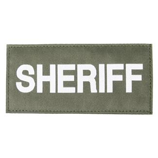 Blackhawk Sheriff Patch White on Green