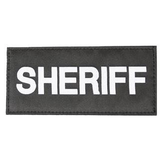 Blackhawk Sheriff Patch White on Black
